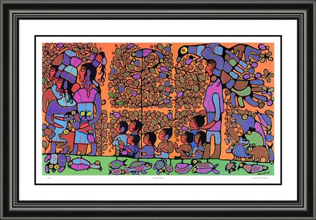 Norval Morrisseau_Psychic Space_framed